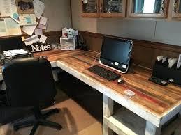 office desk plan. Custom L Shaped Desk Best Industrial Office Ideas On Intended For Rustic Plan Built O