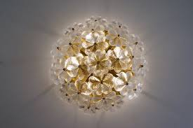 flower glass ceiling light ernst palme 1970 s ca german in vintage chandeliers from roomscape