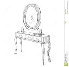 hand mirror sketch. Table And Mirror Sketch. Stock Vector. Illustration Of Freehand - 68194552 Hand Sketch M