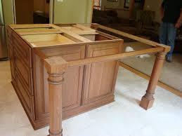 granite countertop wood support legs posts detail