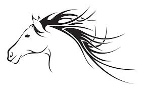 tribal horse head clip art. Exellent Art Horse Outline Tattoo On Tribal Head Clip Art