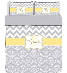 custom personalized chevron damask bedding set twin size duvet with 1 coordinated sham any color