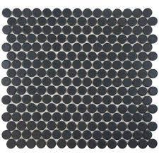 hudson penny round matte black 12 in x 12 5 8 in