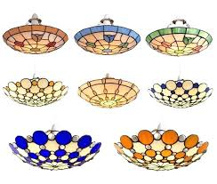stained glass ceiling light shades fitting shade lamp fan