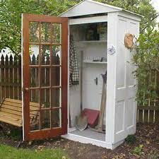 a grand idea constructing a garden shed out of old doors love outdoor projectsoutdoor