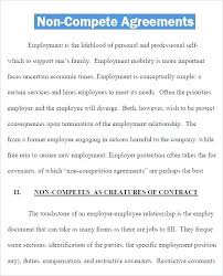 Non Compete Agreement Clause Example Competition Western