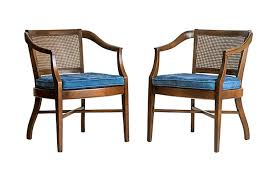 mid century caned chairs