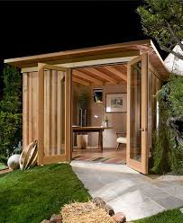prefab shed office. At First It Looks Like A Regular Backyard Shed, But Just Wait Until You See What\u0027s Prefab Shed Office E