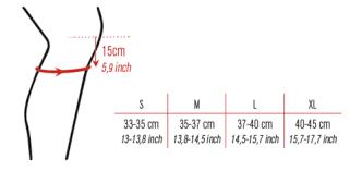 Errea Size Chart Errea Tokio Knee Pad