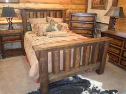 Solid Barnwood Bedroom Furniture  Rugged Canyon Collection