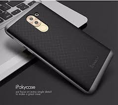 huawei 6x case. ipaky luxury ultra-thin dotted silicon back + pc grey frame bumper case cover for huawei honor 6x - 6x l