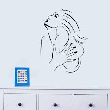 Wall Decor Stickers For Living Room New Manicure Nails Beauty Salon Waterproof Removable Wall Stickers