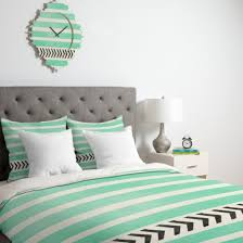 home accessory quilt bedding bedcover bedding mint chevron stripes hipster wheretoget