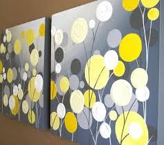 yellow flower wall art zoom yellow and gray fl wall art