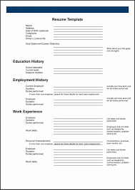free fill in the blank resume templates resume templates free printable fill in the blank resume templates