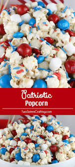 Celebrate with our Patriotic Popcorn - a fun 4th of July Dessert that is  both sweet
