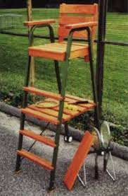 tennis umpire life guard chair