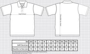 Polo Size Chart Competition Polo Mens Hammer Throwers Sizes