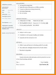 Simple Resume Template Microsoft Word Simple Resume Template Microsoft Word Easy Good Basic Sample