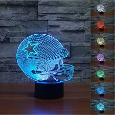 nfl dallas cowboys 3d night light 7 color change led table lamp xmas gift new