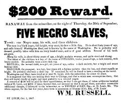 slavery in st louis broadside enlargment slave traders