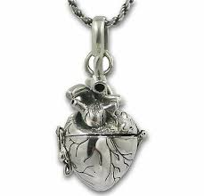 anatomical heart necklace solid