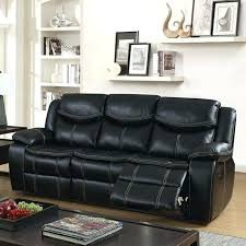 american standard leather sofa transitional with recliners black size