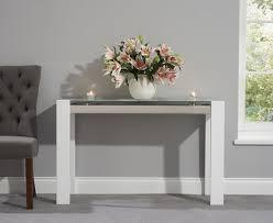 White High Gloss Living Room Furniture Uk Console Tables Living Room Great Furniture Trading Company