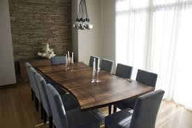 ... Dining Room Table, Breathtaking Brown Rectangle Modern Wood 10 Seat  Dining Table With 10 Chairs ...