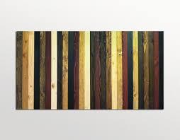 Reclaimed Wood Wall Art Rustic Stained Wood Stripe Headboard Scrap Wood Designs
