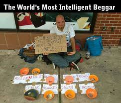 The worlds most intelligent begger | Funny Dirty Adult Jokes ... via Relatably.com