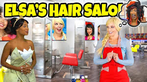 elsa s hair salon rapunzel is out of town and hans puts a spell on elsa