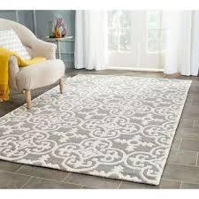 ham dark grey ivory 4 ft x 6 ft area rug