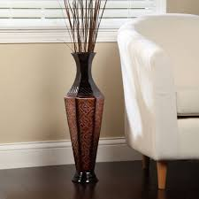 Hosley Elegant Metal Floor Vase, Decorative ornament Flower Decor Home  Office