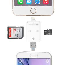 usb otg tf micro sd sdhc card reader for iphone 8 6 7 5 for ipad samsung android