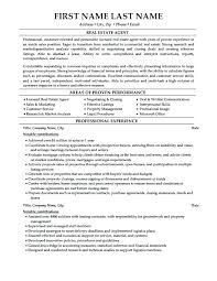 Real Estate Resume Examples Letter Resume Directory