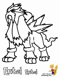 Small Picture Pokemon Coloring Pages Entei Entei Da Colorare Throughout Pokemon