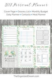 monthly planner free download free 2018 planners and 12 month calendar the organized dream