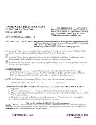 Water Treatment Plant Operator Resume Denise Torys Cover Letter For