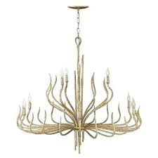fredrick ramond chandelier details a two tier champagne gold middlefield
