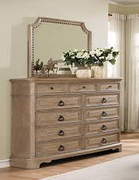 white wash dresser. Roundhill Furniture B296DM Piraeus 296 11 Drawers White Wash Dresser And Nailhead Trim Mirror