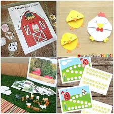 Animal Activity Chart Farm Activities For Kids Lessons Crafts Printables And