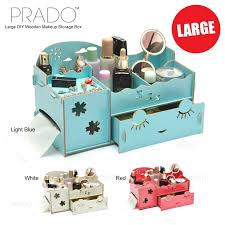 prado large diy wooden makeup creative organizer jewelry storage box