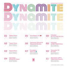 K-POP] BTS (방탄소년단) 'Dynamite' Promotion Schedule - Pantip
