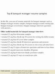 Resume Food And Beverage Manager Assistant Food And Beverage