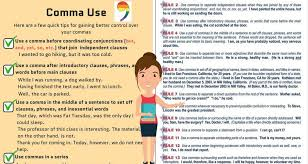 When Do I Use A Comma Comma Rules 8 Rules For Using Commas Correctly Eslbuzz