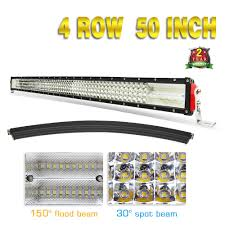 50 Inch Cree Curved Light Bar Amazon Com Jiuguang 50inch 4 Rows Quad Curved Led Light