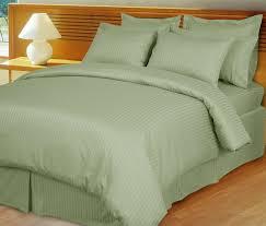 sage green damask stripe down alternative 4 pc comforter set 100 egyptian cotton 600 thread count