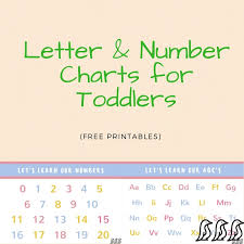 Number Chart For Toddlers Letter And Number Charts For Toddlers Adore Them