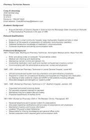 Pharmacy Technician Resume Objective Pharmacist Skills Resume Resume Sample 99